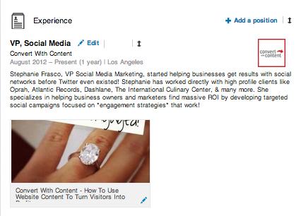 LinkedIn Visual Thumbnail
