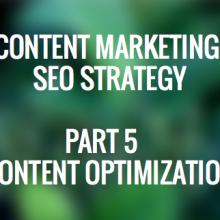 Content Marketing SEO Strategy Content Optimization