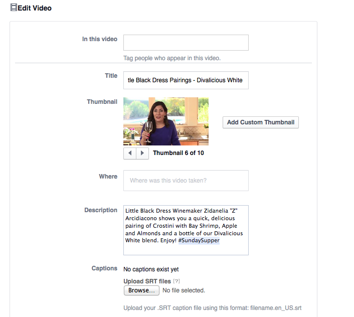 Facebook Video Tip